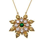 """Joan Boyce Matilda's """"Frosted Floral"""" Faceted Stone Pin/Pendant"""