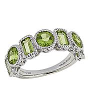 Judith Ripka 2.40ctw Peridot Sterling Silver 7-Stone Ring