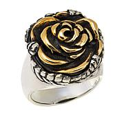 King Baby Jewelry Sterling Silver and Goldtone Rose Ring