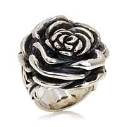 King Baby Jewelry Sterling Silver Bold Rose Ring
