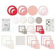 Kingston Crafts Love Collection 26 Stamps with 40 Chipboard Frames