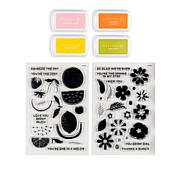 Kingston Crafts Spring Stamps and Ink Pad Bundle