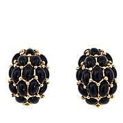 "KJL by Kenneth Jay Lane ""Uptown Nights"" Cabochon Stud Earrings"