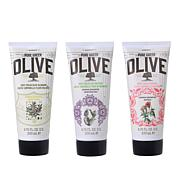 Korres Olive Oil Body Cream Trio - 6.76 fl oz