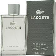 Lacoste Pour Homme Eau De Toilette Spray - 3.4 oz.