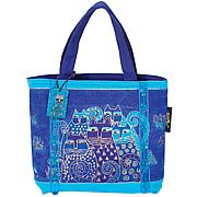 Laurel Burch Mini Bag 11X3X8 - Indigo Cats