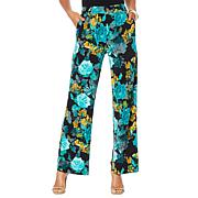 Lemon Way Stretch Jersey Printed Palazzo Pant