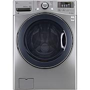 LG 4.5 Cu.Ft. Front Load Washer with TurboWash - Graphite Steel