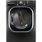LG 7.4 Cu.Ft. Ultra Large Capacity TurboSteam Dryer-Black Stainless...