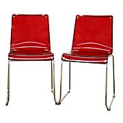 Lino Transparent Acrylic Dining Chairs - Set of 2