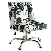 Linon Home Nash Udder Madness Black Office Chair - Black