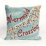 "Liora Manne Frontporch Mermaid Crossing  18"" Pillow"
