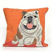 "Liora Manne Frontporch Wet Kiss 18"" Pillow - Orange"