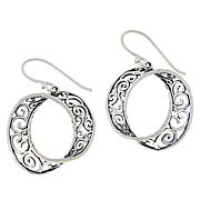 LiPaz Sterling Silver Twisted Scroll Drop Earrings