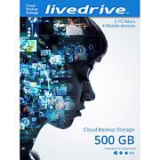 Livedrive 500GB 2-Year Cloud Backup
