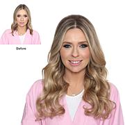 "Locks & Mane 18"" Clip-In Real Hair Extensions"