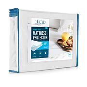 LUCID Comfort Collection Bamboo Jersey Mattress Protector - King
