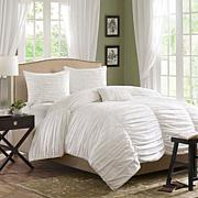 Madison Park Delancey White Duvet Set - Full/Queen