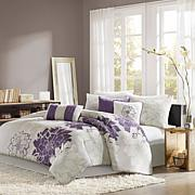 Madison Park Lola Bedding Set Gray/Purple
