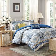 Madison Park Tangiers Printed 6-piece Coverlet Set - Blue