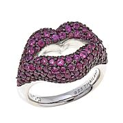 Margo Manhattan 3.48ctw Rhodolite Lips  Ring