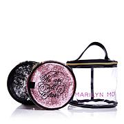 Marilyn Monroe Glitter and Lace Nested Set of 3 Round Cosmetic Bags
