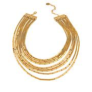 """MarlaWynne 19-3/4"""" Multi-Layer Mesh Link Necklace"""