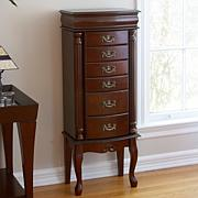 Medium Mahogany Jewelry Armoire