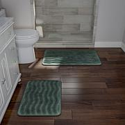 Memory Foam 2-piece Bath Mat Set - Green