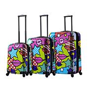 Mia Toro Italy Stars & Kisses 3pc Spinner Luggage