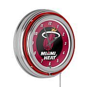 Miami Heat Double Ring Neon Clock