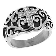 Michael Anthony Jewelry® Crystal Cross Swirl Ring
