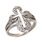Michael Anthony Jewelry® Filigree Cross Ring
