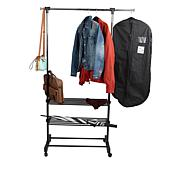 Mind Reader Metal 3-Tier Adjustable Garment Rack