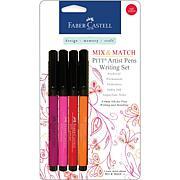 Mix and Match Pitt Artist Pens - 4pk Red Yellow