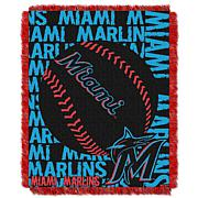 MLB Double Play Woven Throw - Miami Marlins