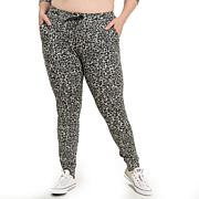Mono B Cheetah Print Sweatpants - Plus