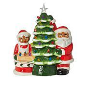 """Mr. Christmas 12"""" LED Ceramic Nostalgic Tree with Figures"""