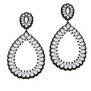 "Natalie Mills ""Sophia"" Black and White Drop Earrings"