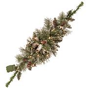 National Tree 3' Glittery Bristle Pine Mailbox Swag with 35 LED Lights