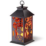 "National Tree Company 12"" LED Owl and Pumpkin Lantern"
