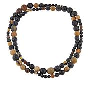 Natural Beauties Watusi Cattle Horn Beaded Necklace