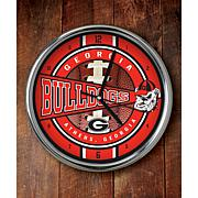 NCAA Chrome Clock - Georgia