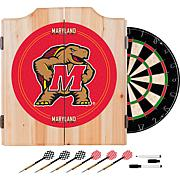 NCAA Dart Cabinet with Darts and Board - Maryland Univ