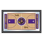 NCAA Framed Basketball Court Mirror - East Carolina
