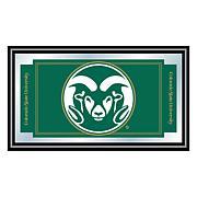 NCAA Logo and Mascot Framed Mirror - Colorado State