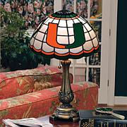 NCAA Tiffany-Style Table Lamp - University of Miami