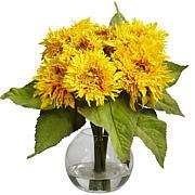 """Nearly Natural 12"""" Golden Sunflower Arrangement"""