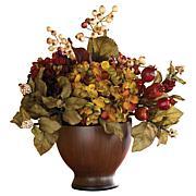Nearly Natural Silk Autumn Hydrangea Arrangement