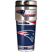 New England Patriots Travel Tumbler w/ Metallic Graphics and Team Logo